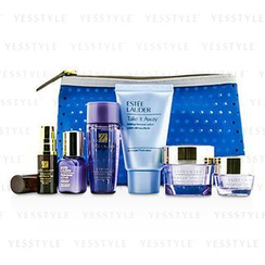 Estee Lauder 雅詩蘭黛 - Travel Set: Makeup Remover 30ml + Optimizer 30ml + Advanced Time Zone Cream 15ml + Perfectionist [CP+R] 7ml + Eye Cream 5ml + Eye Serum 4ml + Bag