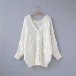 Janseed - 麻花針織開衫