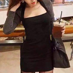 Katie Bloom - 假两件长袖连衣裙