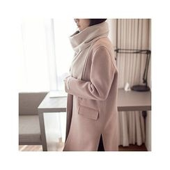 MASoeur - Single-Breasted Wool Blend Coat