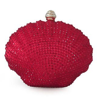 Moonbeam - Rhinestone Seashell Clutch