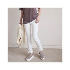 MASoeur - Slit-Hem Straight-Cut Pants
