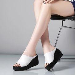 Pangmama - Genuine Leather Slide Sandals