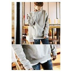 HOTBOOM - Turtle-Neck Brushed-Fleece Lined Sweatshirt