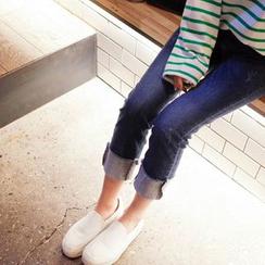 mimi&didi - Cuff-Hem Straight-Cut Jeans