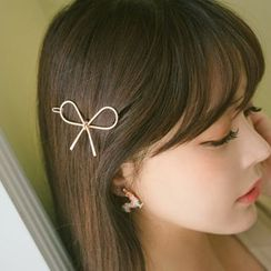 Gioia - 金屬蝴蝶結髮夾