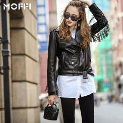 MOFFI - Fringed Biker Jacket