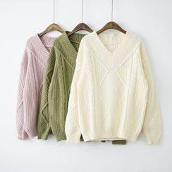 Polaris - V-Neck Thick Sweater