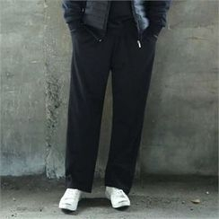 BYMONO - Drawstring-Waist Wide-Leg Pants