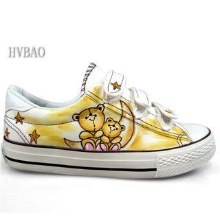 HVBAO - Bears Print Velcro Canvas Sneakers