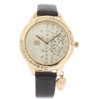 N:U - Not the Usual - Dangling Heart Charm Wrist Watch
