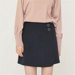 MAGJAY - Flap-Front Seam-Detail Skirt