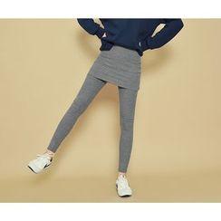 HOTPING - Inset Cotton Skirt Leggings