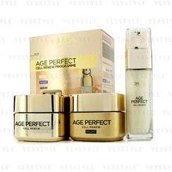 L'Oreal - Age Perfect Cell Renew Programme: Night Cream 50ml + Day Cream SPF 15 50ml + Serum 30ml