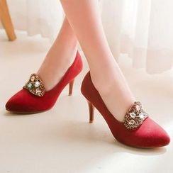 Blingon - 綴飾高跟鞋