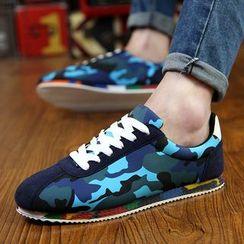 HANO - Camouflage Panel Sneakers