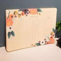 Homey House - Floral Print Weekly Planner (M)