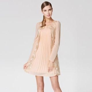 O.SA - Lace-Panel Pleated Dress