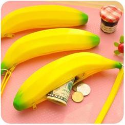 Momoi - Silicone Banana Shape Zipper Coin Purse