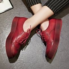 JY Shoes - Platform Brogue Oxfords