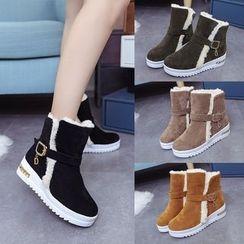 Yoflap - Platform Furry Short Boots
