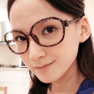 Cuteberry - Color-Block Bow-Accent Spectacle Frame