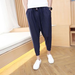 Bay Go Mall - Drawstring Harem Pants
