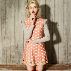 ELF SACK - Sleeveless Wool Blend Printed Dress