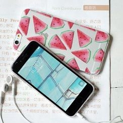Milena - Set of 4: Watermelon Print iPhone 6 / 6 Plus Phone Case + Ring Holder + Notebook + Zip Pouch