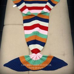 CACHA - Striped Mermaid Tail Blanket