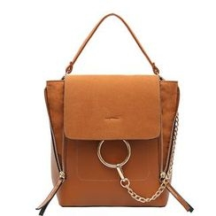 Nautilus Bags - Faux Leather Chained Shoulder Bag
