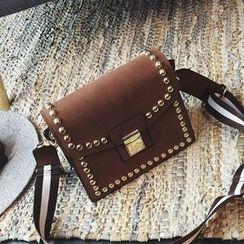Nautilus Bags - Studded Buckled Shoulder Bag