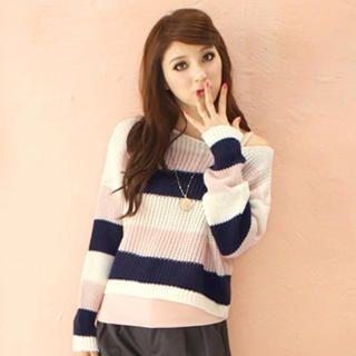 Tokyo Fashion - Cropped Striped Sweater
