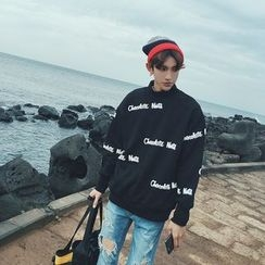 Mr. Cai - Lettering PrinedSweatshirt