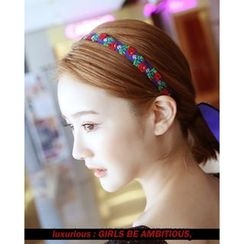 Miss21 Korea - Floral Embroidered Hair Band