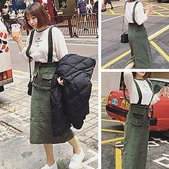 Glen Glam - Corduroy Midi Jumper Skirt