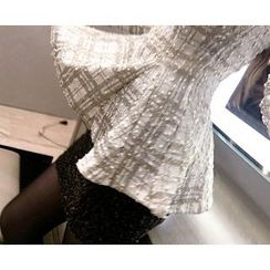 Marlangrouge - Tweed Mini Knit Skirt