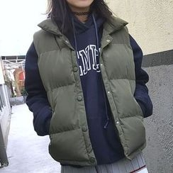 Champi - 立領夾棉馬甲