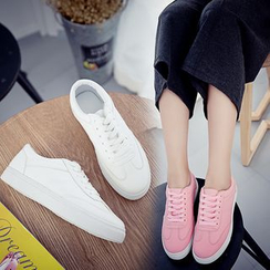 Micha - Plain Lace Up Sneakers