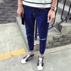 JVR - Distressed Slim-Fit Jeans