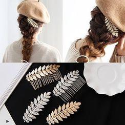 Aokuna - Leaf Hair Comb / Hair Clip