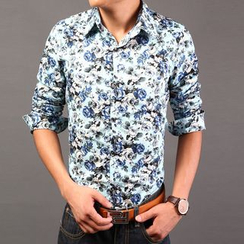 Breeson - Floral Print Long-Sleeve Shirt