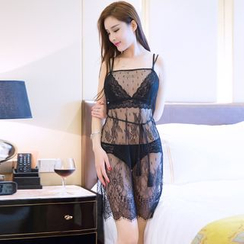 Sexy Palace - Set: Lace Nightdress + Thongs
