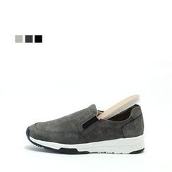 MODELSIS - Faux-Leather Slip-Ons