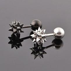 潮野 - 尖刺單飾釘耳環