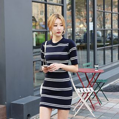 DABAGIRL - Striped Sweater Mini Dress
