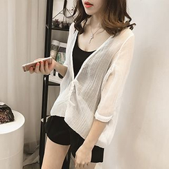 Little V - Set: 3/4 Sleeve Light Jacket + Camisole Top