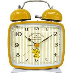 T'S Factory - Pokemon Square Twin Bell Clock (Yellow)