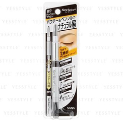 SANA - New Born 3 in 1 Eyebrow B2 Pencil (Grayish Brown)