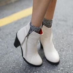 midnightCOCO - Chunky-Heel Ankle Boots